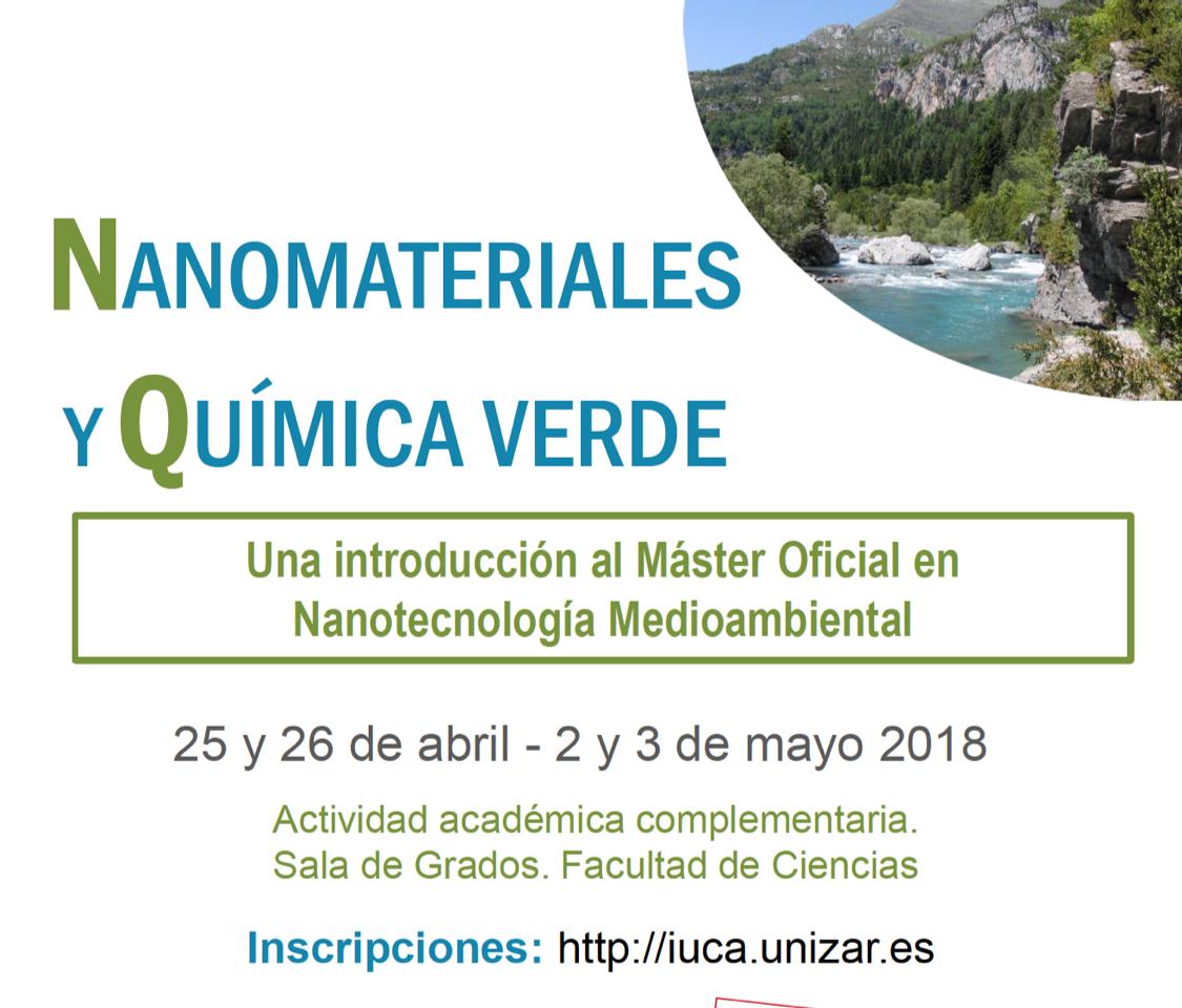 Cours de «Nanomatériaux et de Chimie Verte» à l'Université de Saragosse